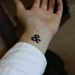 Ampersand Wrist Classic Tattoo Design For Men