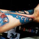 Arm Creative Character Tattoo Designs