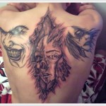 Back Best Faces Tattoo Designs