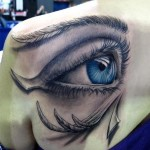 Back Creative Eye Tattoo Designs