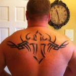 Back Tribal Cross Tattoo Designs