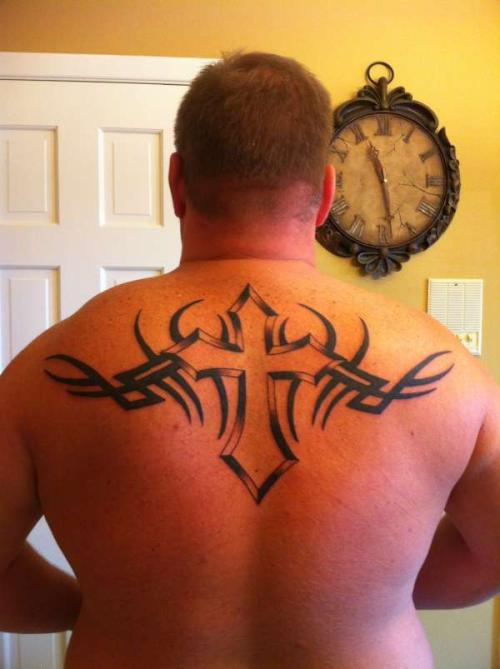 Back Tribal Cross Tattoo Designs | Tattoo Love