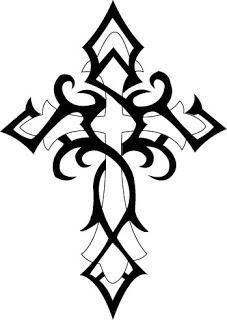 black and white tribal cross pattern tattoo designs tattoo love. Black Bedroom Furniture Sets. Home Design Ideas