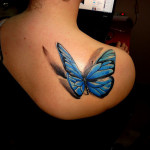 Butterfly Creative Shoulder Tattoo Designs