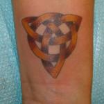 Celtic Knot Wrist Tattoo Design For Men
