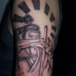Classic Half Sleeve Samurai Tattoo Designs