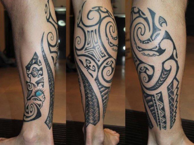 classic tribal leg tattoo designs for men tattoo love. Black Bedroom Furniture Sets. Home Design Ideas