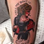 Cool Leg Girl Tattoo Designs For Men