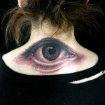 Creative Back Eye Tattoo Designs