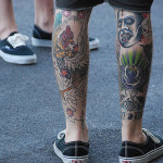 Devil Leg Scary Tattoo Designs For Men