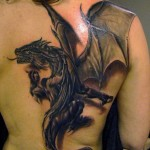Dragon Creative Back Tattoo Designs