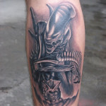 Evil Leg Tattoo Designs For Men