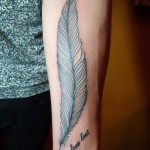Feather Arm Classic Tattoo Designs