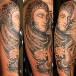 Gypsy Woman Half Sleeve Tattoo Designs