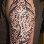 Half Sleeve Angel Tattoo Designs