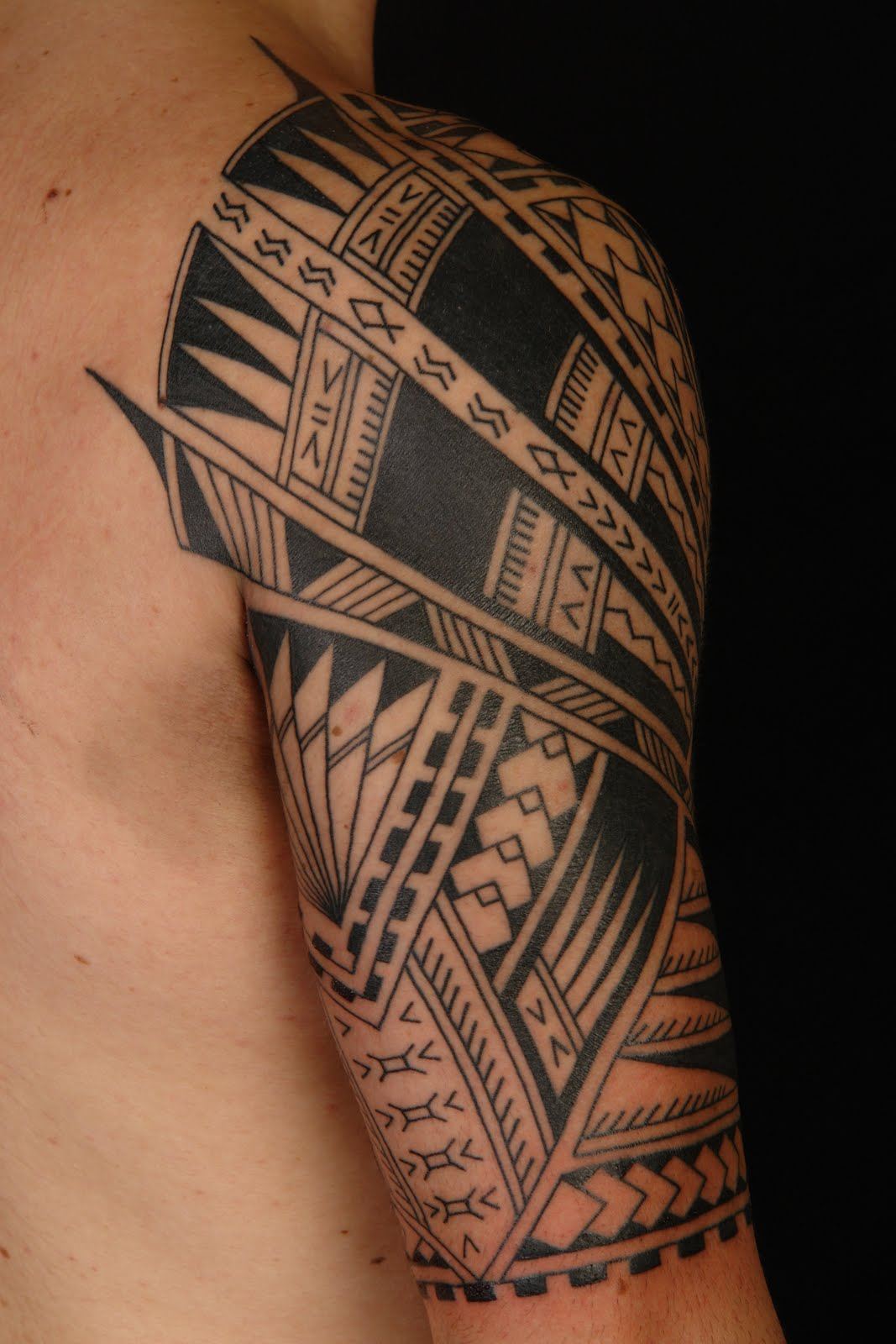 Hawaiian half sleeve black tattoo designs tattoo love for Hawaiian sayings tattoos