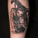 Leg Devil Tattoo Designs For Men