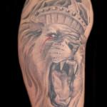Lion Face Tattoo Designs For Mens Shoulder