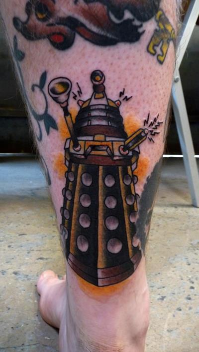 Machine Color Leg Tattoo Designs For Men Tattoo Love