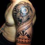 Maori Half Sleeve Tribal  Tattoo Designs