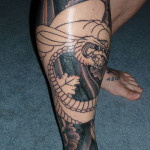 Meaningfull Leg Tattoo Designs For Men
