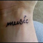Music Creative Wrist Tattoo Designs