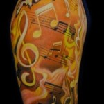 Music Half Sleeve Tattoo Designs