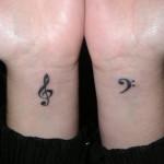 Music Wrist Note Tattoo Design For Men