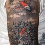 Nest Half Sleeve Bird Egg Tattoo Designs