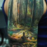 Paradise Half Sleeve Classic Tattoo Designs