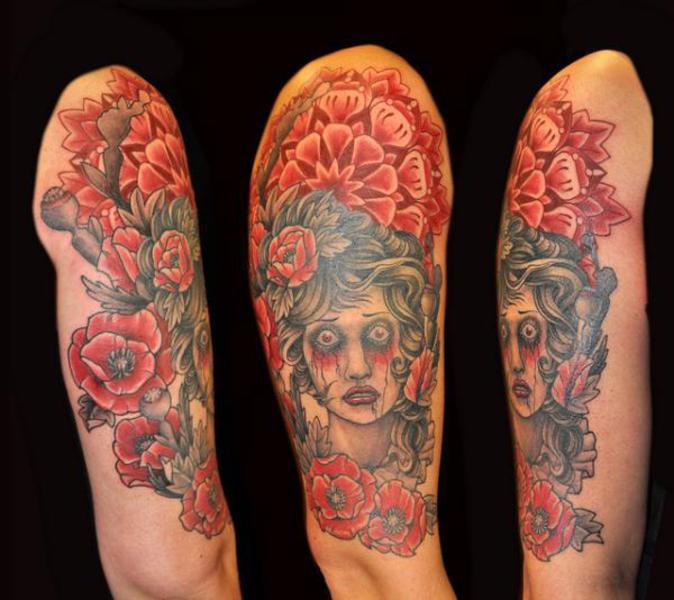 rose blood half sleeve tattoo designs tattoo love. Black Bedroom Furniture Sets. Home Design Ideas