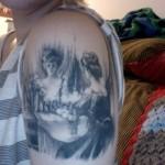Skull Shoulder Creative Tattoo Designs