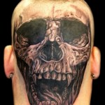 Skull-tattoo-on-head