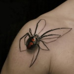 Spider Tattoo Classic Designs For Mens Shoulder