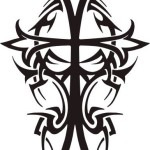 Tribal Cross Black Tattoo Designs