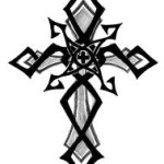 Tribal Cross Classic Tattoo Designs