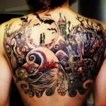 Upper Back Creative Tattoo Designs