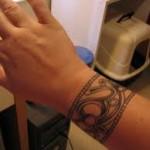 Wrist Art Tattoo Design For Men