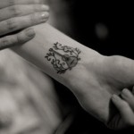 Wrist  Guitar Tattoo Design For Men
