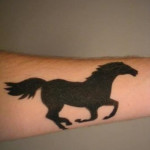 Wrist Horse Tattoo Design For Men