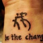 Wrist Lettering Tattoo Design For Men