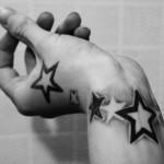 Wrist Little Star Tattoo Design For Men