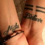 Wrist Quotes Tattoo Design For Men