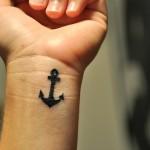 Wrist Small Anchor Tattoo Design For Men