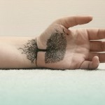 Wrist Tattoo Tree Design For Men