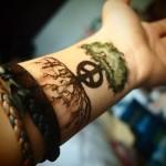 Wrist Tree Tattoo Design For Men