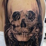 clown-skull-tattoo