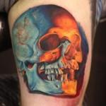 realistic-skull-tattoo