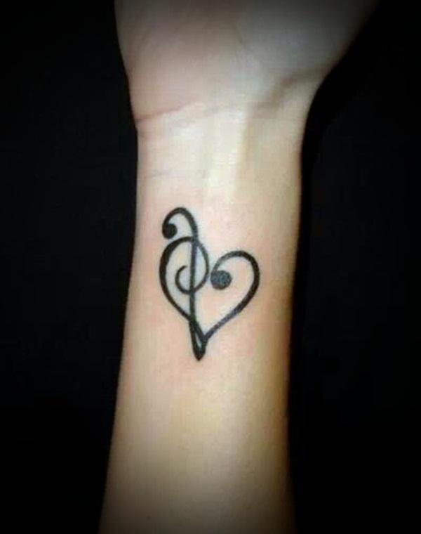 small music sign tattoos ideas | Tattoo Love