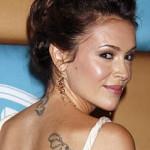 Alyssa Milano Female Celebrity Tattoos